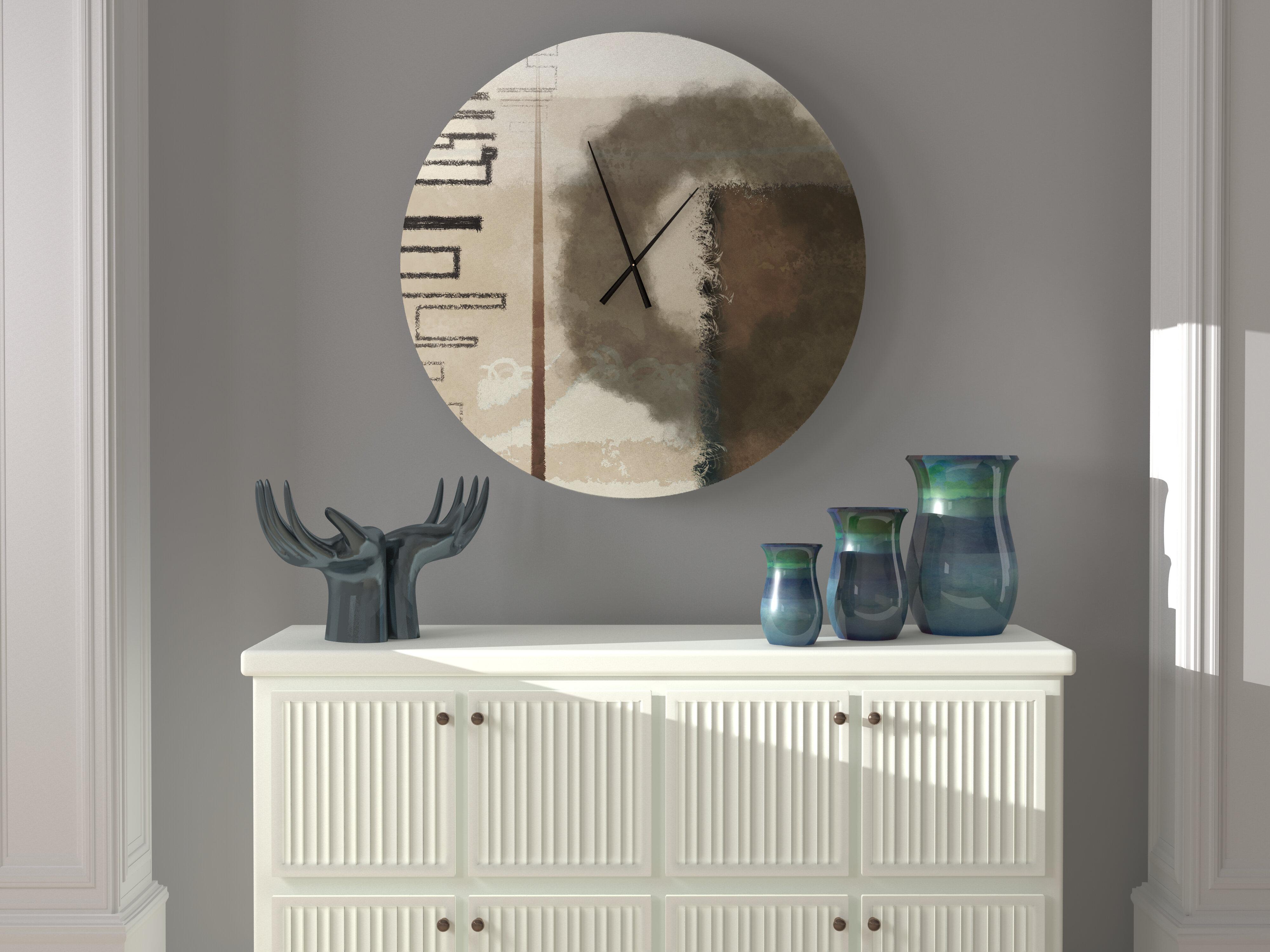 Latitude Run Kooky Hard Working Abstract Metal Wall Clock Wayfair
