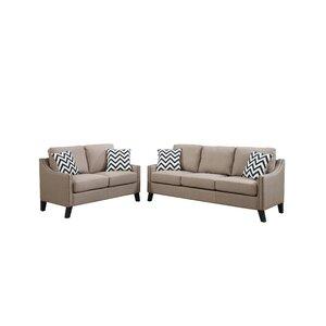 Bobkona Debora 2 Piece Living Room Set