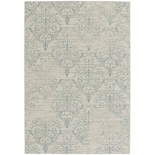 Boyster Blue Indoor/Outdoor Area Rug by Three Posts Bargain
