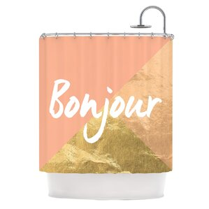 pink and gold shower curtain. Bonjour Gold Metallic Shower Curtain Rose  Wayfair