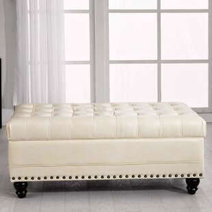 Castilian Faux leather Storage Bench by NOYA USA