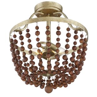 Dikmen 2-Light Semi Flush Mount by Bay Isle Home