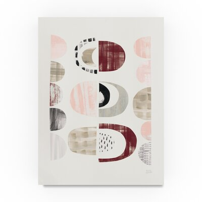 Wrought Studio 'Mod Neutrals II Blush' Graphic Art Print on Wrapped Canvas Size: 19 H x 14 W