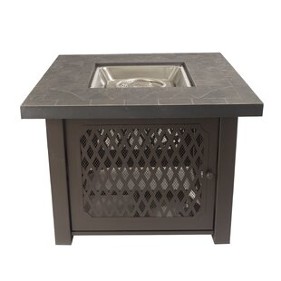 Pleasant Hearth Sheridan Gas Stainless Steel Propane Fire Pit Table