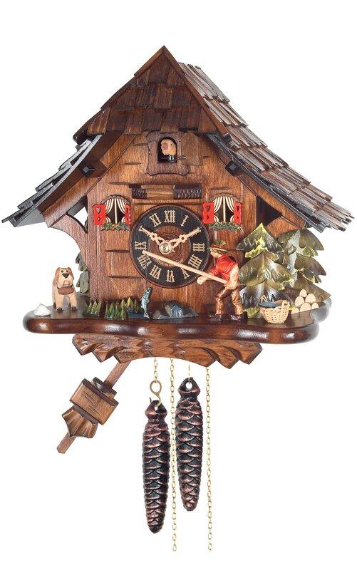 Weight-Driven Fishing Cuckoo Wall Clock