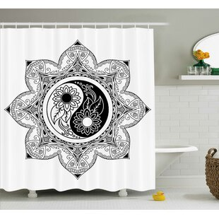 Ying Yang Decor Flower Mandala Shower Curtain By East Urban Home