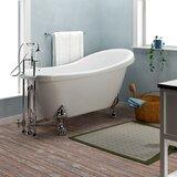 Foster 61 x 28 Clawfoot Soaking Bathtub by Barclay