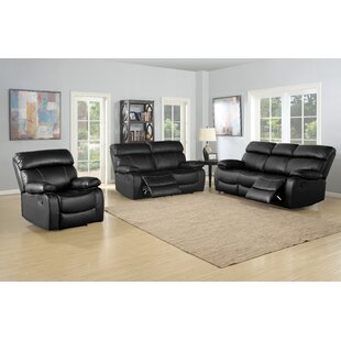 Michela Reclining 3 Piece Living Room Set..