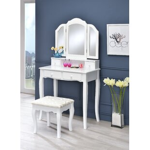 Charlton Home Lizbeth Vanity Set with Mirror