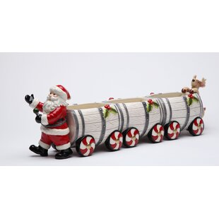 Santa Barrel Train Salt and Pepper Set and Box by Cosmos Gifts