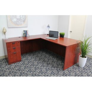 Fabiano L-Shape Wood Desk Office Suite 3 Piece Set