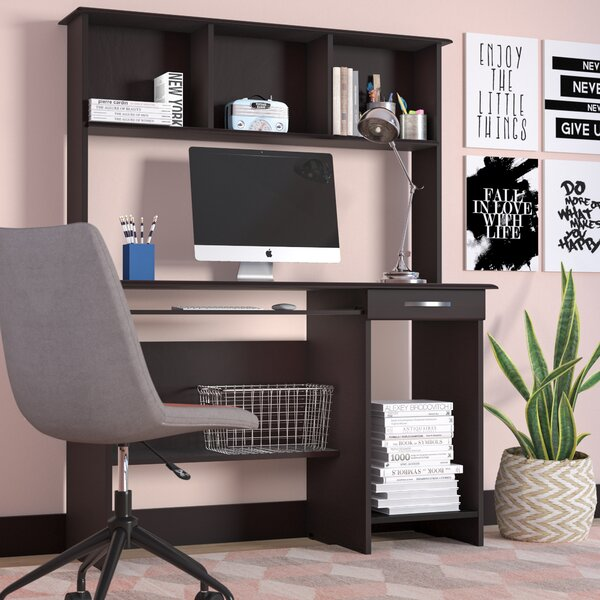 hollins computer desk with hutch