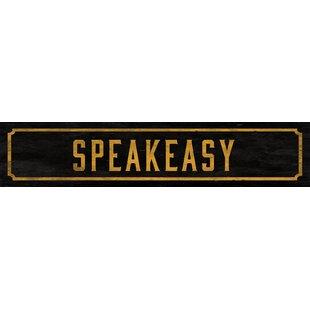 Speakeasy Street Sign Wall Décor