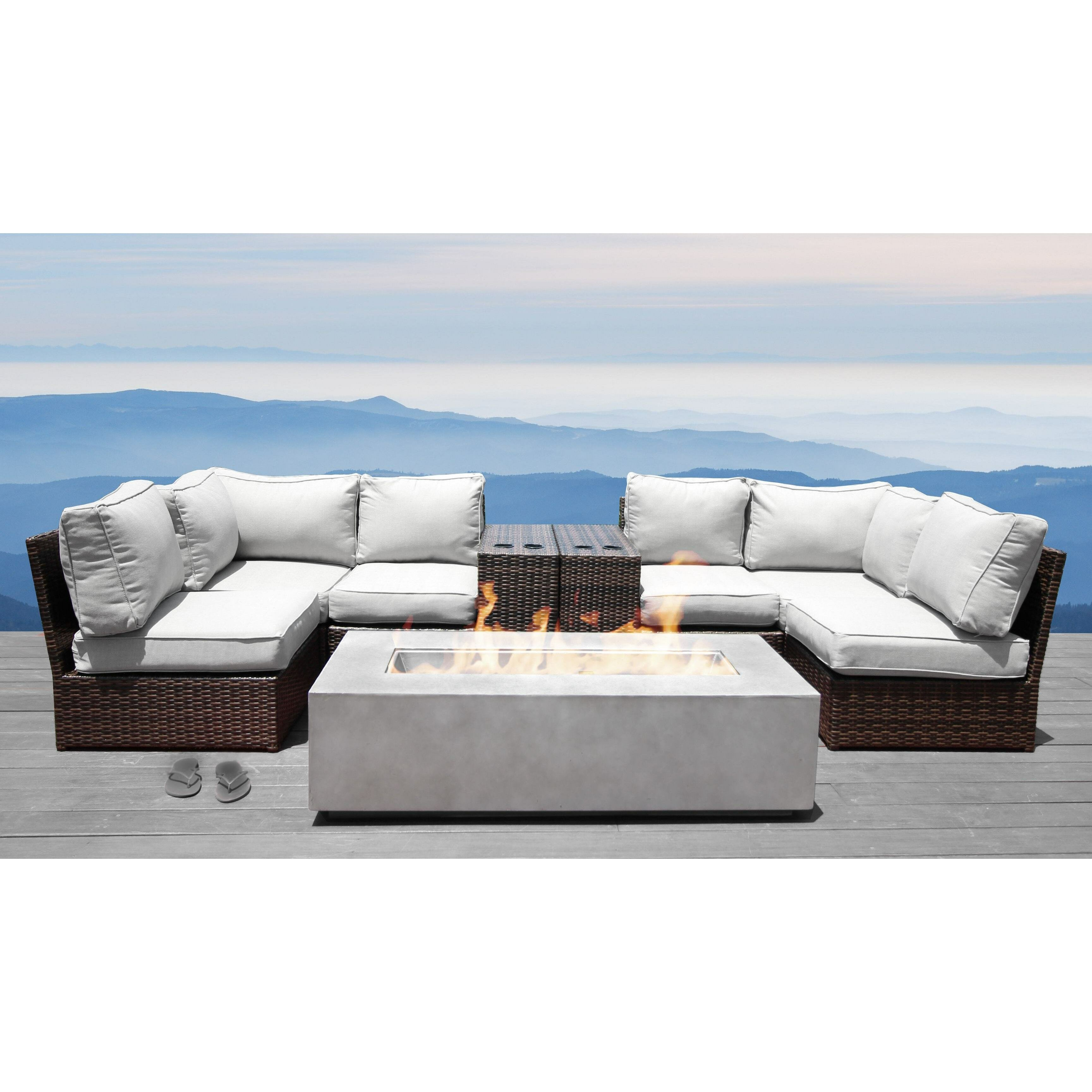 Picture of: Orren Ellis Vasil 9 Piece Sectional Seating Group With Cushions Reviews
