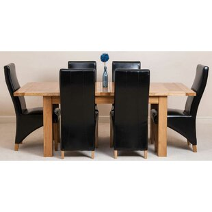 Sairsingh Kitchen Solid Oak Dining Set With 6 Chairs By Rosalind Wheeler