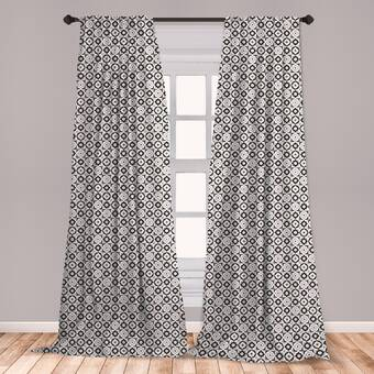 Ambesonne Black And White Curtains