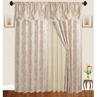 Loyd Damask Room Darkening Thermal Rod Pocket Curtain Panels (Set of 2) by Astoria Grand