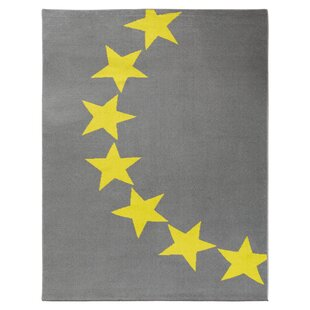 Stars Grey Yellow Rug