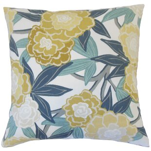 Iniabi Floral Cotton Throw Pillow