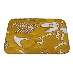 Dinosaurs Bones Bath Rug