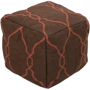 Mars Hill Geometric Cube Ottoman by Loon Peak