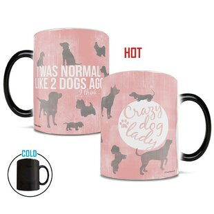 Vanness Crazy Dog Lady Heat Reveal Ceramic Coffee Mug