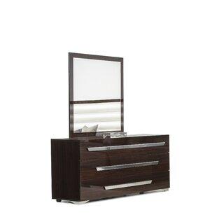 Sommerset 3 Drawer Soft Closing Dresser With Mirror