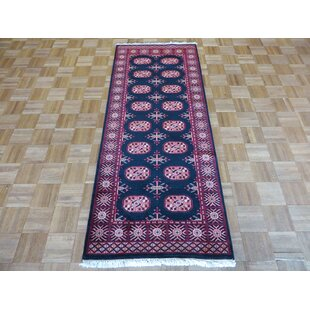 Shopping for One-of-a-Kind Pellegrino Bokara Hand-Knotted Rayon from Bamboo Silk Black Area Rug By Bloomsbury Market