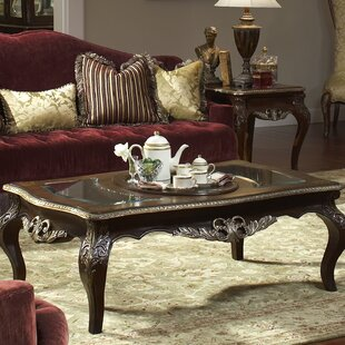 Michael Amini Imperial Court Coffee Table with Tray Top