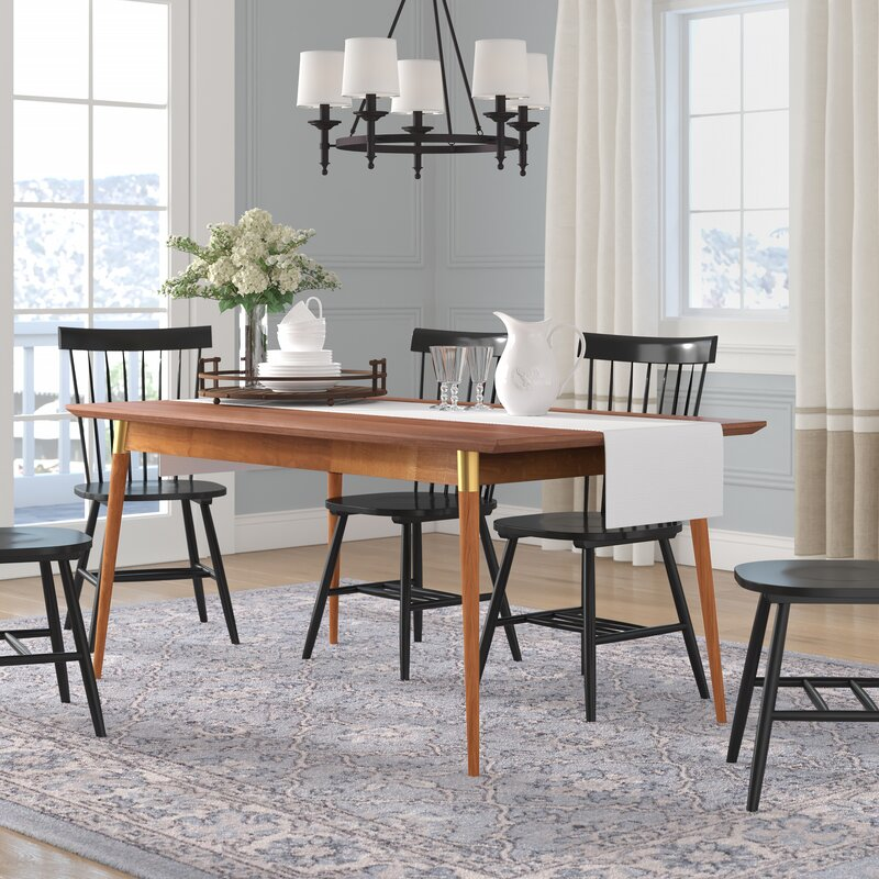 Corrigan Studio Sloan Solid Wood Dining Table Reviews Wayfair