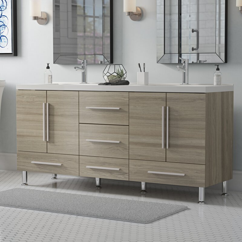 Wade Logan Waldwick 67 Double Bathroom Vanity Set Reviews Wayfair