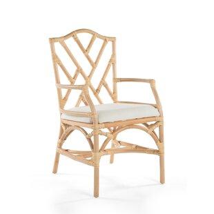 Bayou Breeze Margrett Rattan Arm Chair (Set of 2)