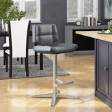 Patchin Swivel Adjustable Height Bar Stool by Brayden Studio®