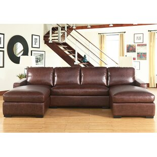 17 Stories Cowden Leather Sectional