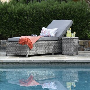 Vallauris Storage Chaise Lounge with Cushion