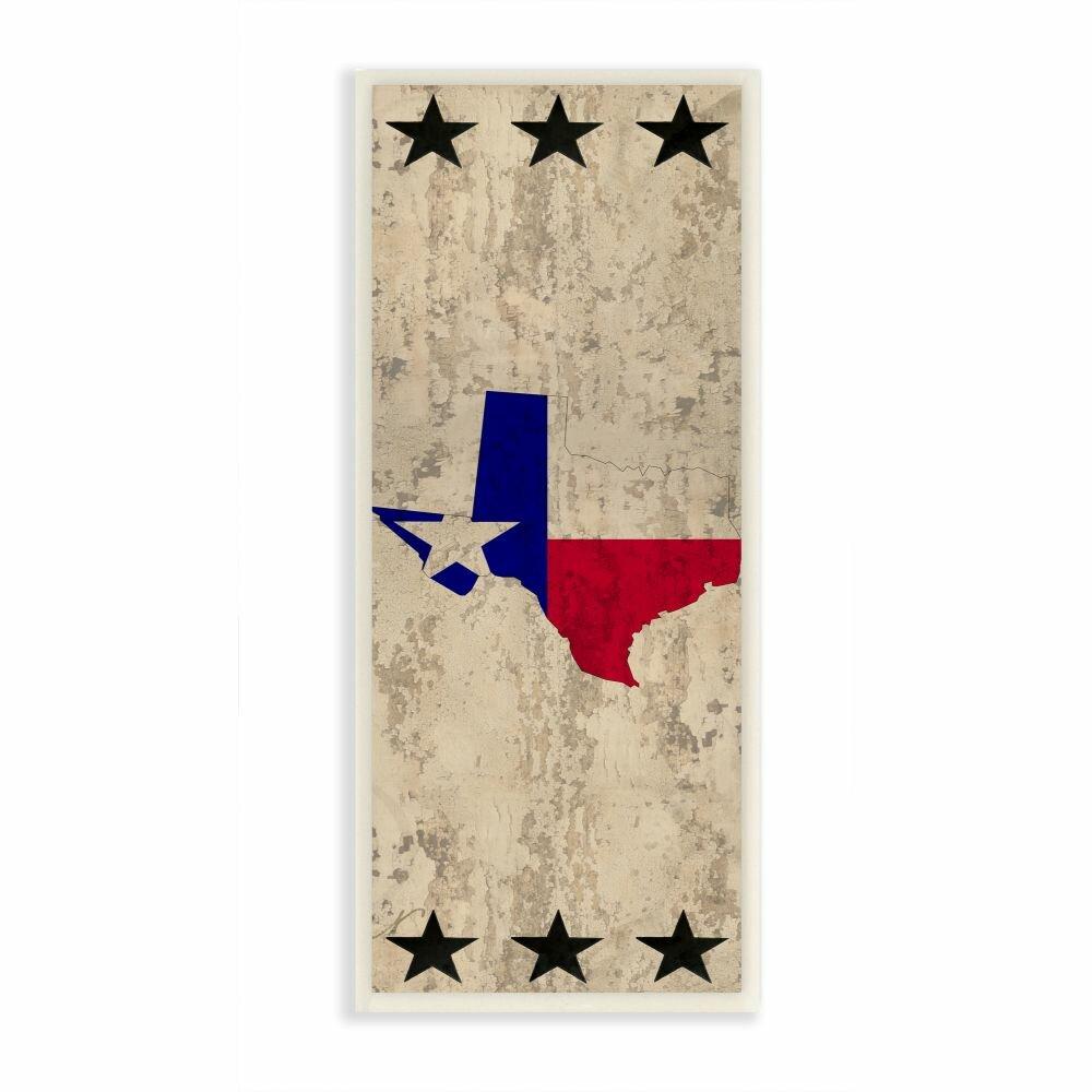 Millwood Pines Texas Home State Star Textured Design Graphic Art On Canvas Wayfair