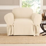 Cotton Box Cushion Armchair Slipcover by Sure Fit