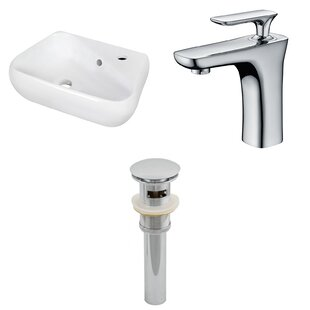Online Reviews Ceramic Specialty Bathroom Sink with Faucet and Overflow ByAmerican Imaginations