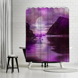 Lebens Art Landscape Surreal Purple Single Shower Curtain