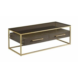 Ansel Coffee Table With Storage by Ivy Bronx Great price