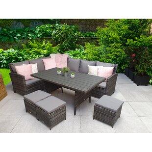 Iraheta 9 Seater Rattan Corner Sofa Set By Sol 72 Outdoor