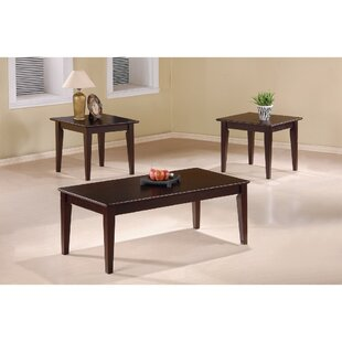 Kizer 3 Piece Coffee Table Set by Charlton Home