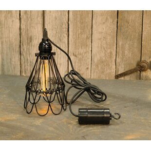 LurLine Hanging Battery Cage 1-Light LED Bulb Pendant by August Grove