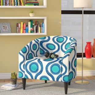 Ebern Designs Caspar Upholstered Barrel Chair