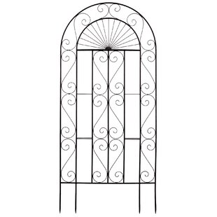 Deer Park Ironworks Sunset Steel Arched Trellis