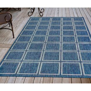 Hamm Squares Navy Indoor/Outdoor Area Rug