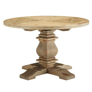 Indurial Solid Wood Dining Table by Millwood Pines Wonderful