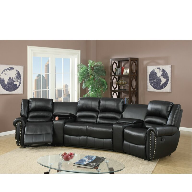 Home Theater 5 Piece Symmetrical Sectional