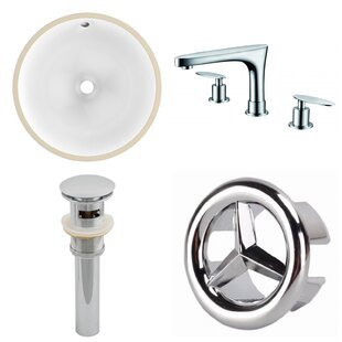 Best Reviews CUPC Ceramic Circular Undermount Bathroom Sink with Faucet and Overflow ByAmerican Imaginations
