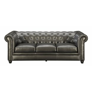 Shop Keesler Button-Tufted Sofa by Mercer41